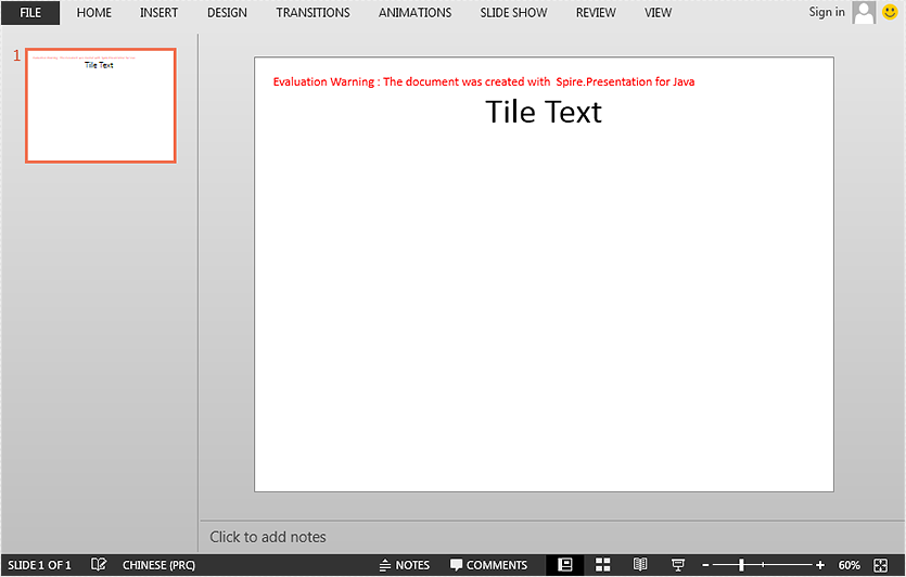 Set and Get Slide Title in PowerPoint in Java