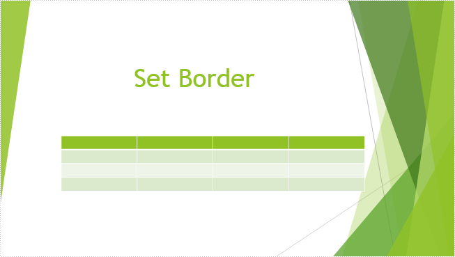 How to Set and Remove Table Border in PowerPoint