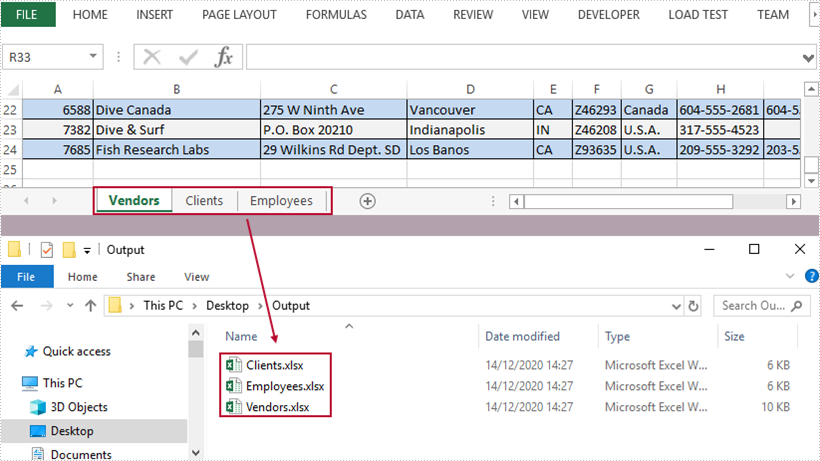 Split a Workbook into Multiple Excel Documents in C#, VB.NET