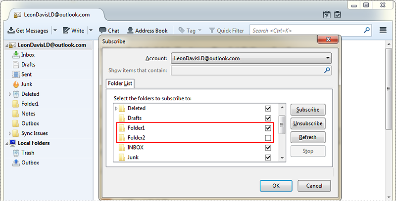 Subscribe and Unsubscribe Folders in C#, VB.NET
