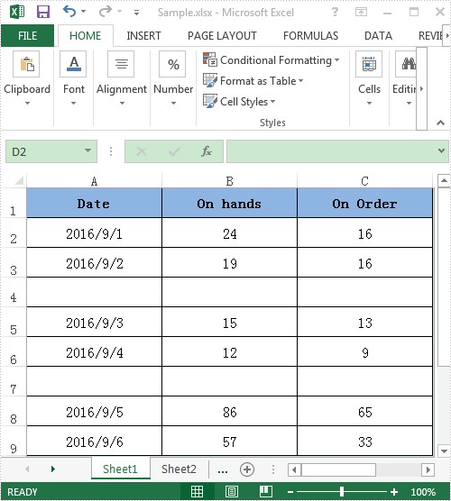 Use Discontinuous Data Range to Create Chart in Excel