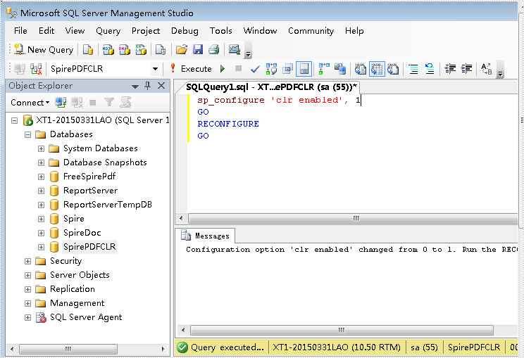 Utilize Spire in SQL CLR