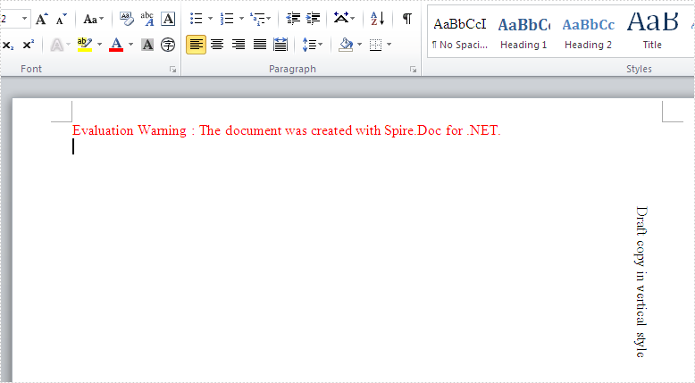 How to create vertical table at one side of the word document