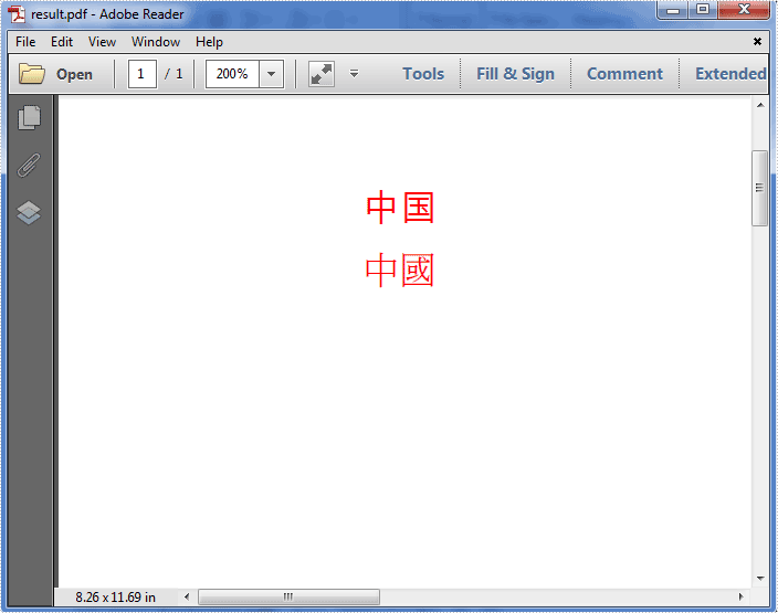 How to add simplified and traditional Chinese characters to PDF in C#, VB.NET