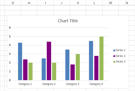 How to change the color of data series in an Excel chart