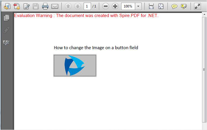 How to change the image on button field in C#