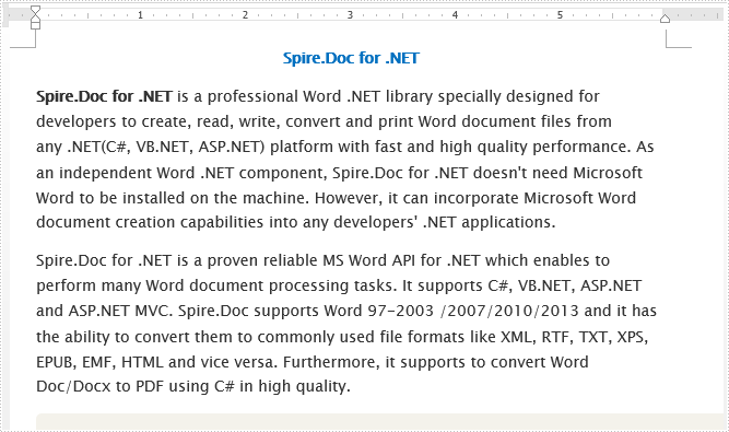 How to convert Word to Word XML in C#, VB.NET