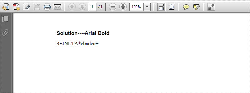 how to know the font in pdf