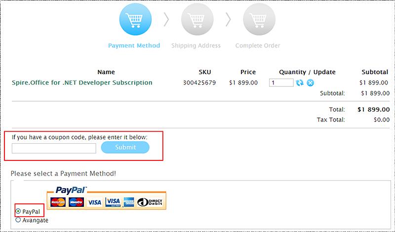 Paypal coupon code