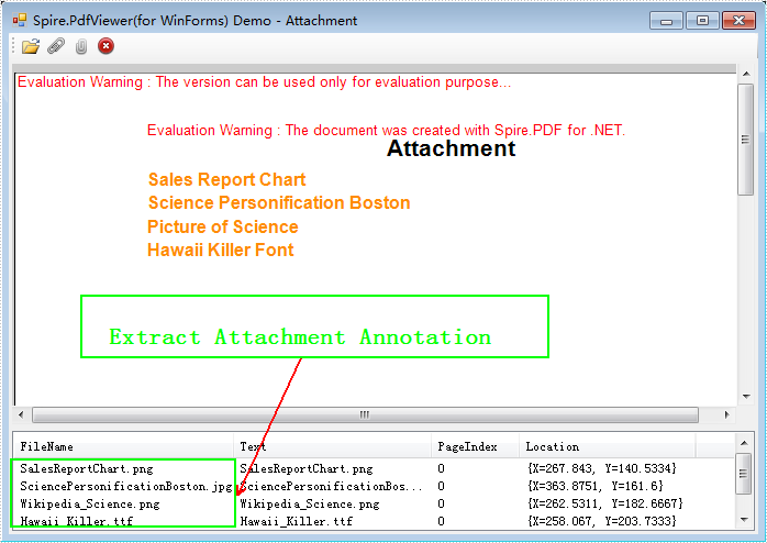 Extract the attachments from PDF document via PDFViewer