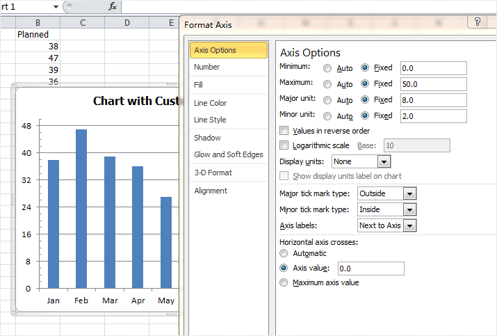 How to format axis for excel chart in c how to format axis for excel chart in c ccuart Images