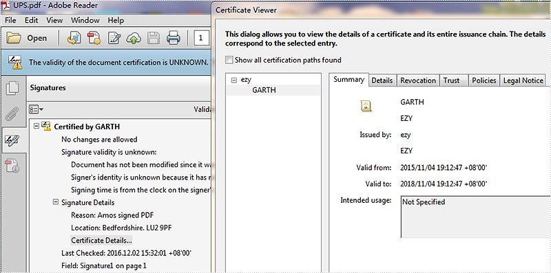 How to get all certificates in a PDF signature