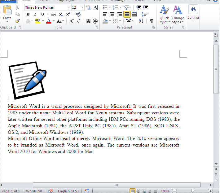How to get the height and width of text in word document in C#