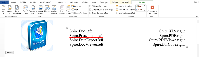 Set position of table in Word Document as outside via Spire.Doc