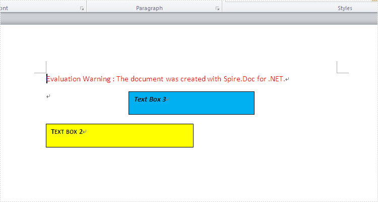 How to remove Text Box from word document in C#