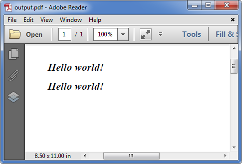 How to replace font(s) in PDF document