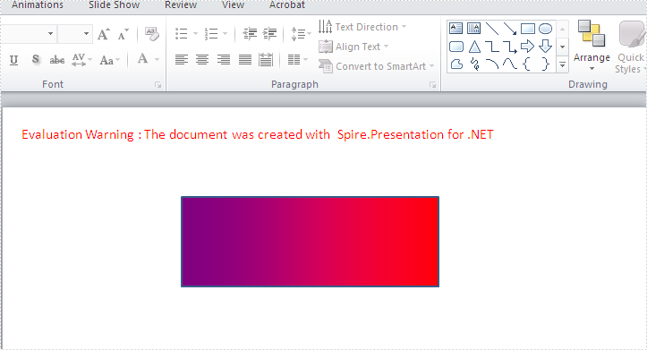 How to create gradient shape in PowerPoint in C#