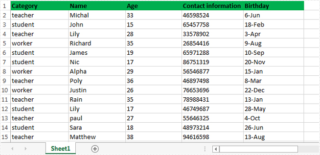 How to retrieve data from one excel worksheet and extract to a new excel file in C#