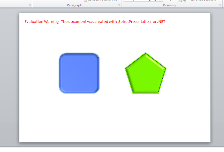 How to set 3-D format for shapes in slides