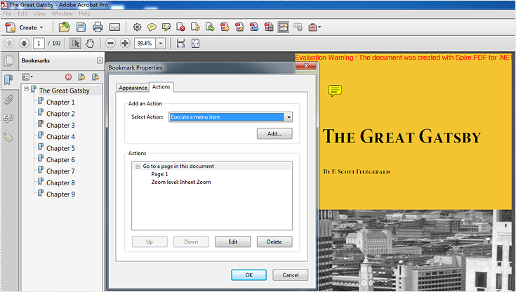 How to set inherit zoom property for PDF bookmarks