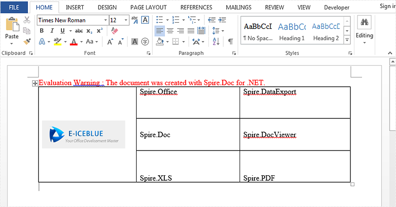 How to set Vertical Alignment for table in Word via Spire.Doc