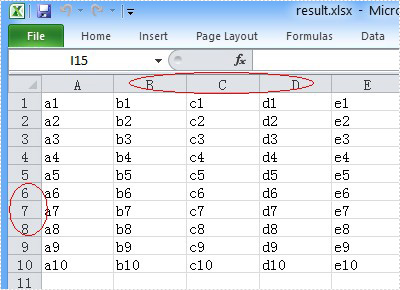 unhide the Excel row and column