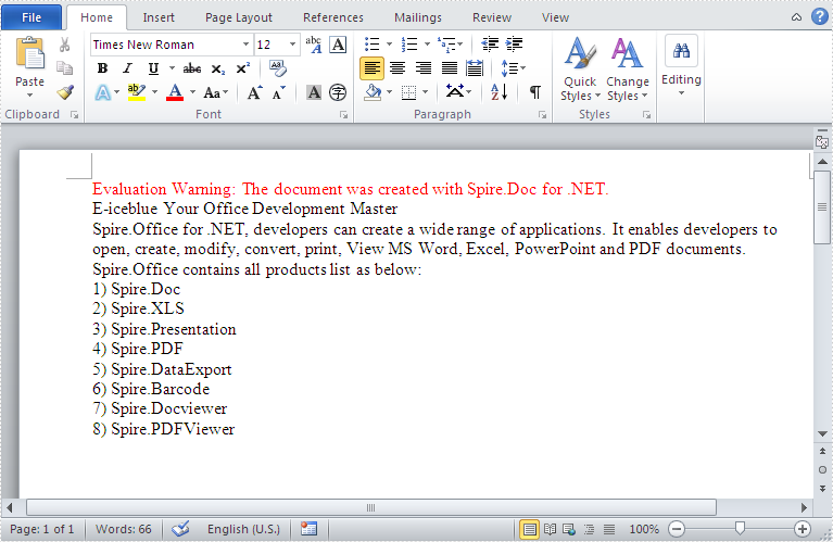 How to load a plain text (txt) files and save it as word document