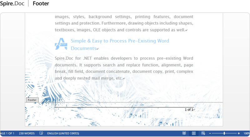 NET Word API - Processing Word in C#, VB NET, ASP NET
