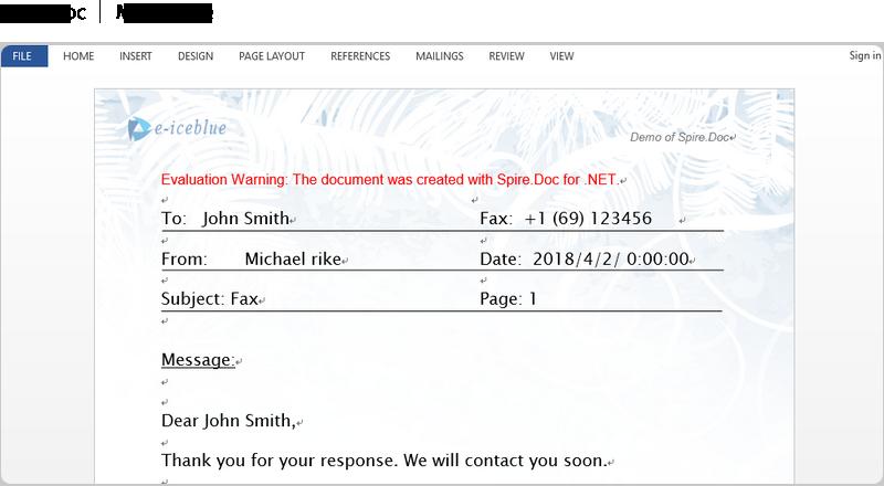 Spire.Doc for .NET full screenshot