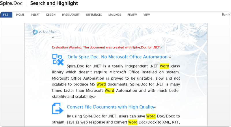 net word component processing word in c vb net asp net
