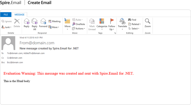 NET Email API - Create, read and manipulate emails in C#, VB
