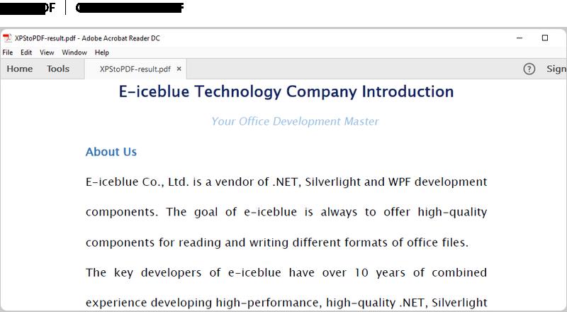 Free  NET PDF API - Developing PDF in C#, VB NET, ASP NET