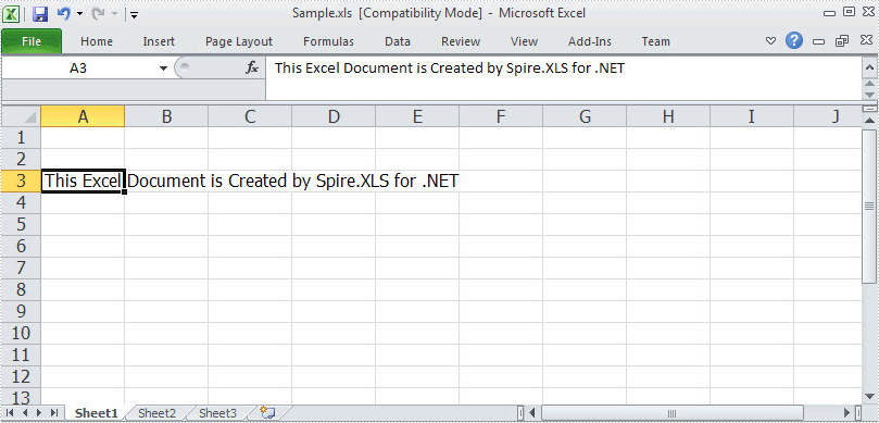 Create Excel File
