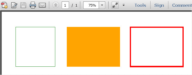 Draw Rectangles in PDF