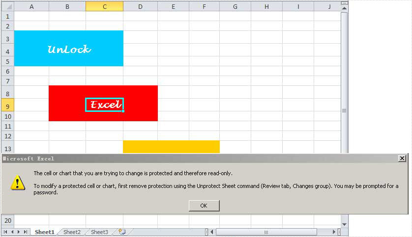 Unlock Excel Worksheet