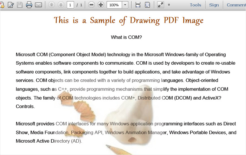 Draw PDF Image in C#, VB NET