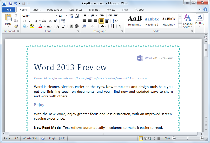 Word Page Borders