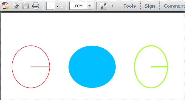 Draw Circles in PDF