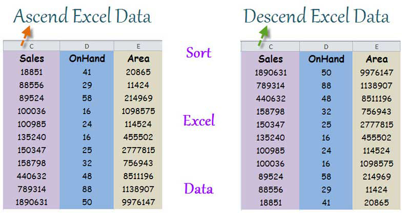 Sort Excel Data