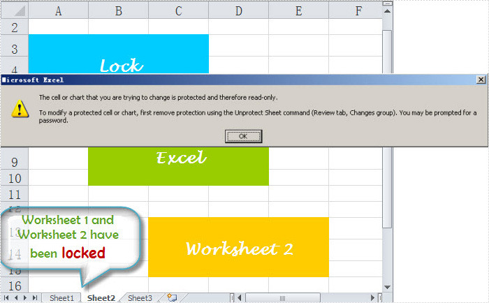 Lock Excel Worksheet