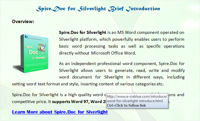 Insert Word Hyperlink