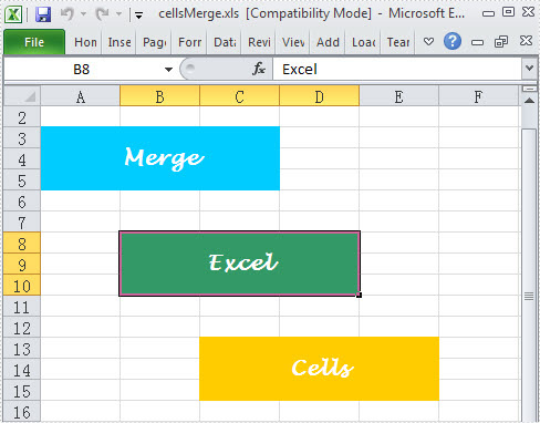 Merge Excel Cells