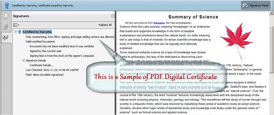 Create Digital Certificate
