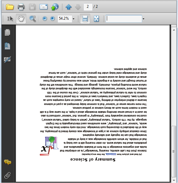 Setup PDF Page