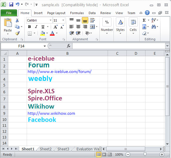 Remove Excel Hyperlink