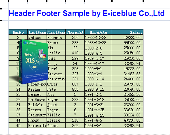 how to add footer in excel 2003