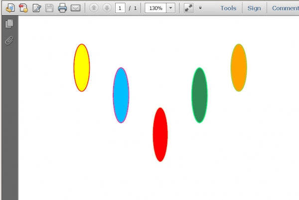 Draw Ellipses in PDF